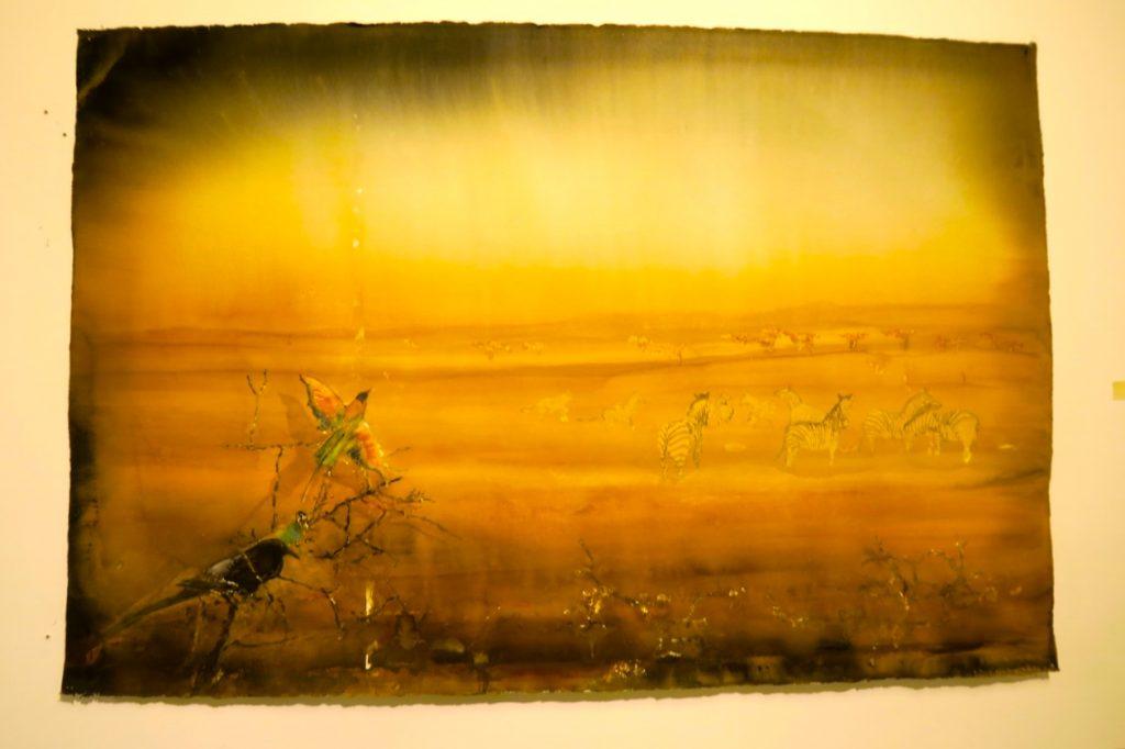 Lars Lerin, akvarellkonstnären skildrar ljuset som ingen annan . Här finns ofta gul färg med i målningarna.