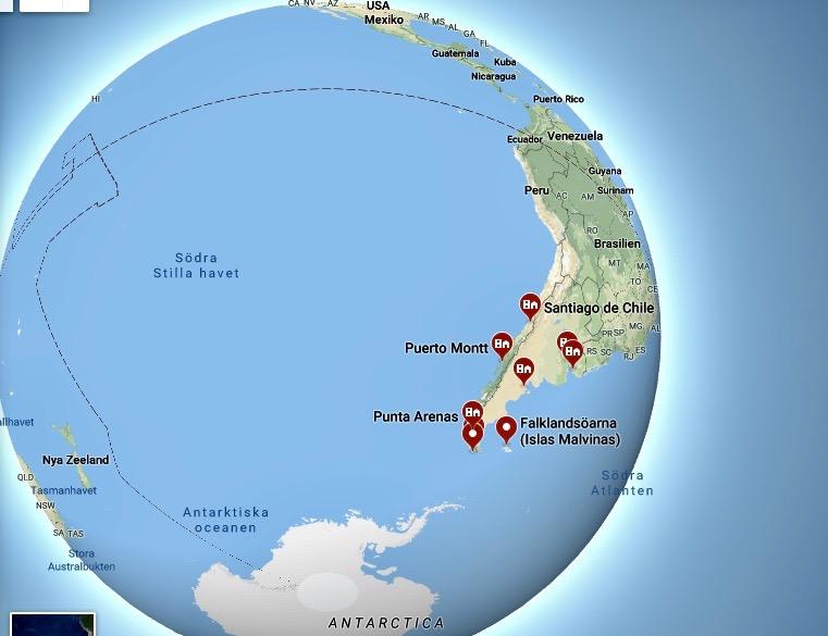 Kap Horn Karta