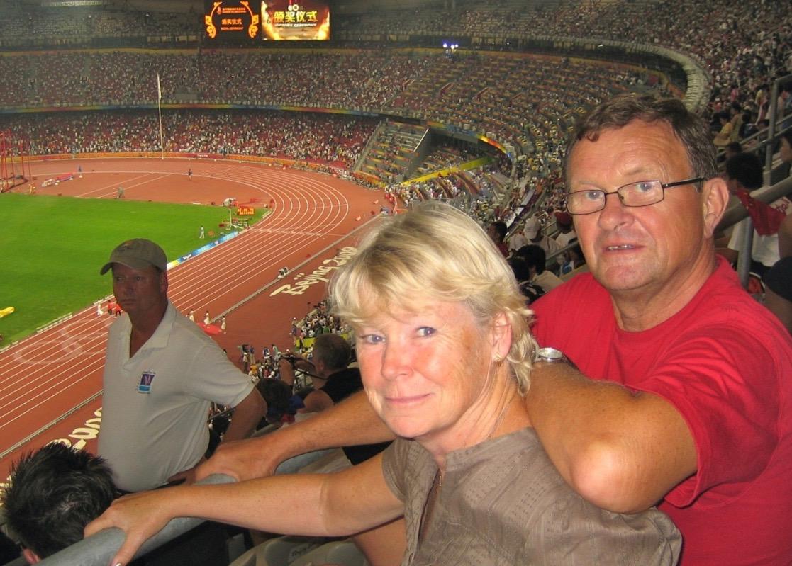Värme fick vi gott om under OS i Peking 2008.