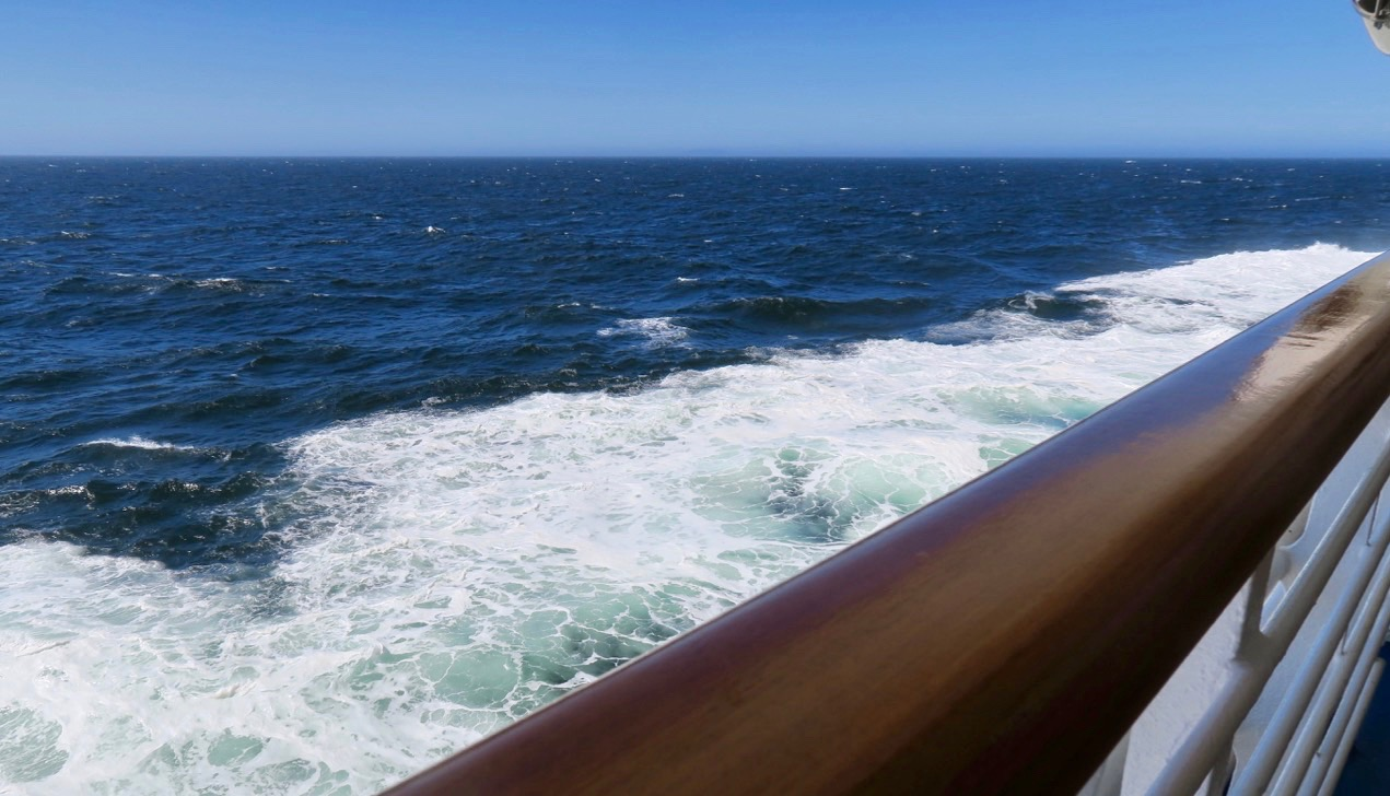 Stilla havet var inte direkt stilla. Här söderut längs Chiles långa kust.