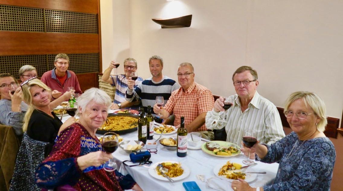 Tillsammans med goda vänner blev det middag på en spansk restaurang i lördags kväll.