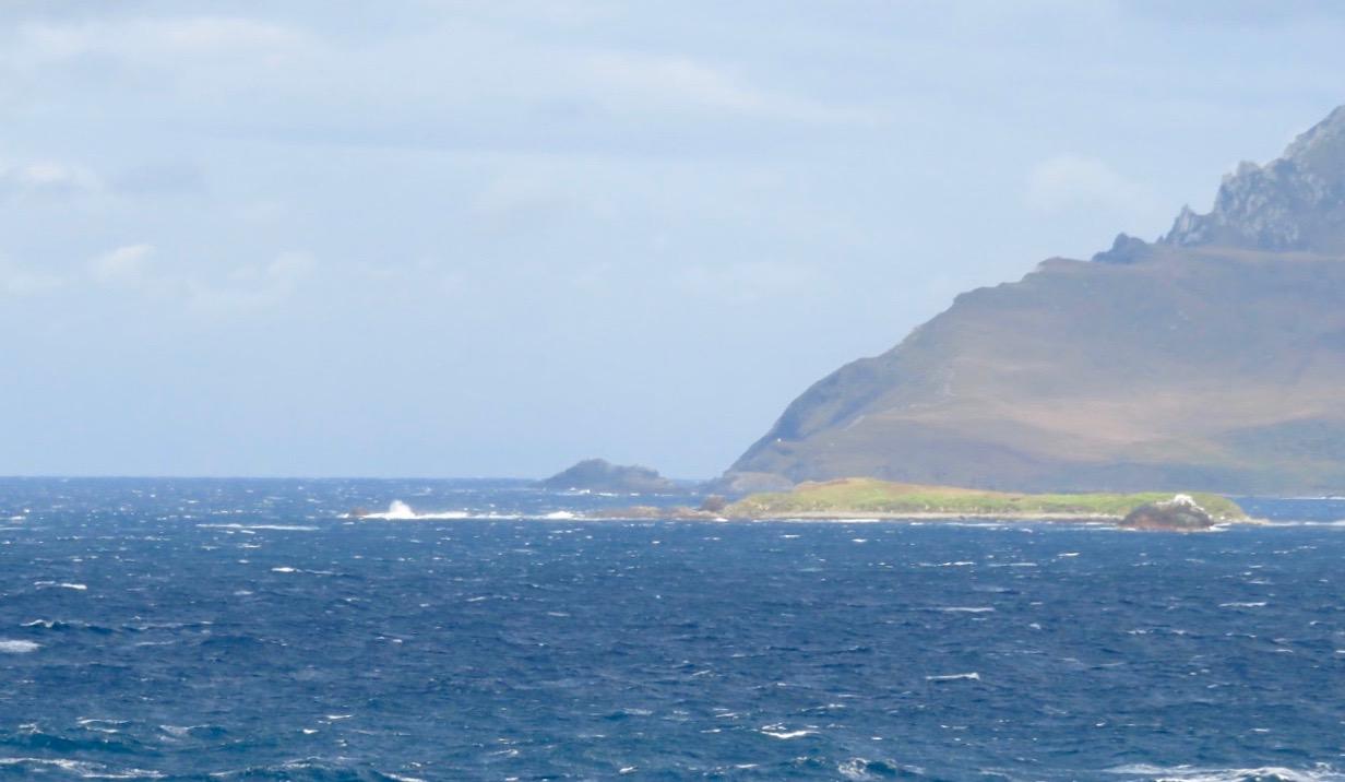 "Den sydligaste udden av Kap Horn . Självaste ""hornet""."