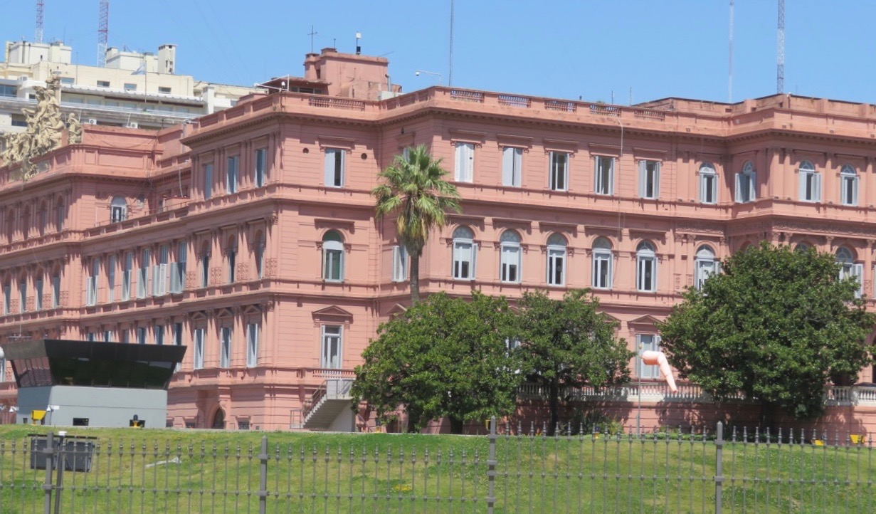 La Casa Rosada, presidentpalatset i Buenos Aires