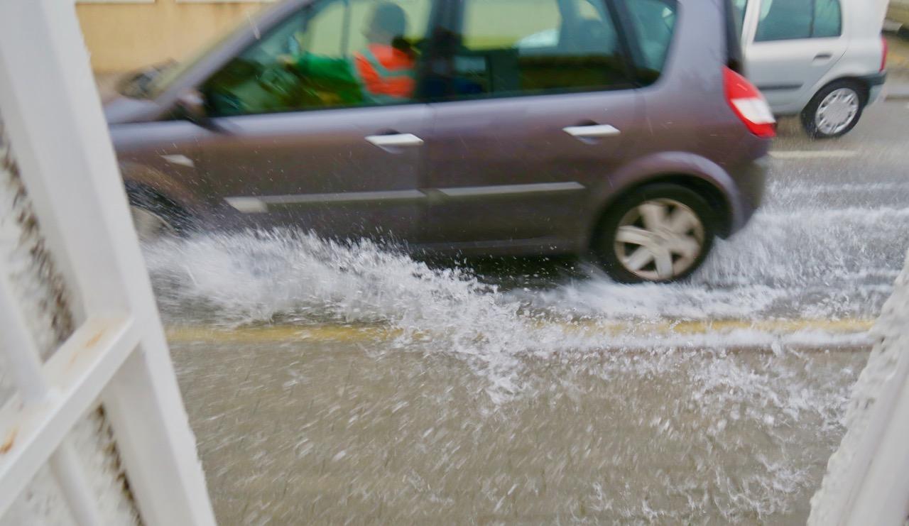 Torrevieja flyter fram och det är översvämningar på många platser.