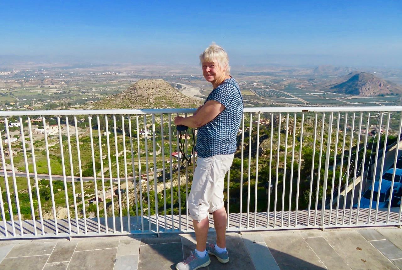 Mojácar ligger 158 m över havet. Inte sp högt, men utsikten är magnifik. Särskilt en dag med god sikt.