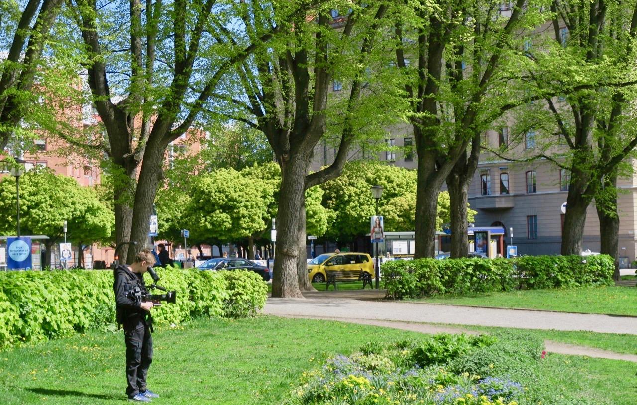 Karlaplan på Östermalm gjordes om till en park i slutet av 1800-talet