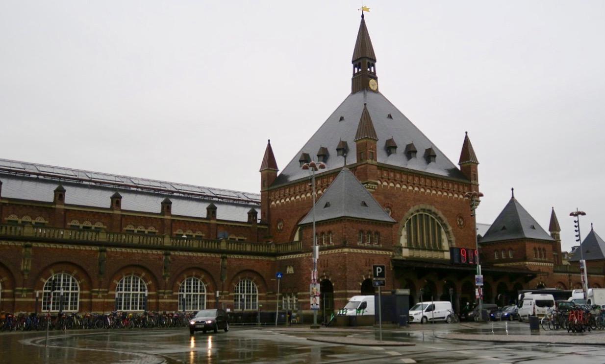 Hovedbanegården i Köpenhamn. Köpenhamns huvudstation för tåg.