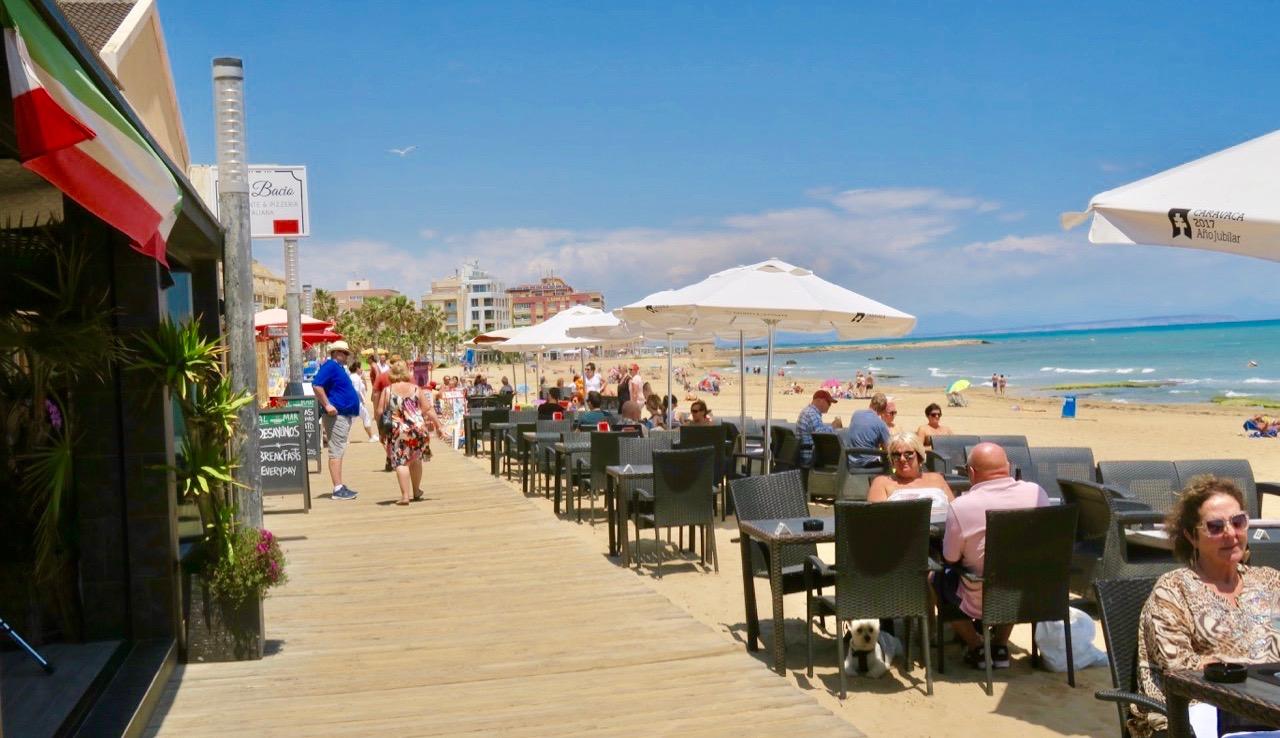 Sol och vatten/hav är tillsammand med restauranger och en fin strandpromenad en lyckad sammansättning