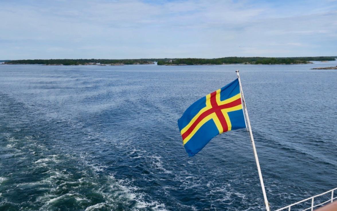 På väg över Ålands hav till Mariehamn