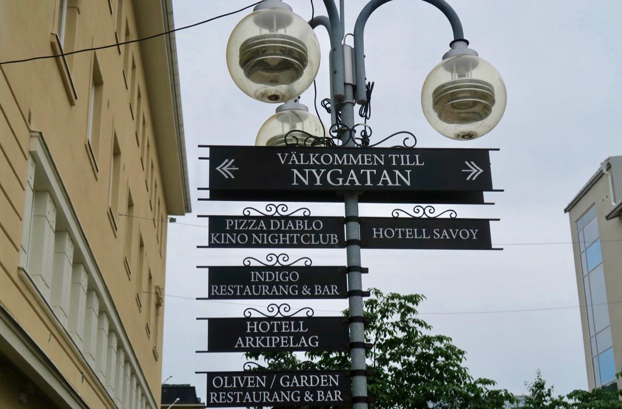 Skyltsöndag men dessa finns i Mariehamn alla dagar.