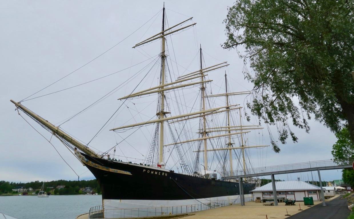 Pommern är är på plats igen i Mariehamn.