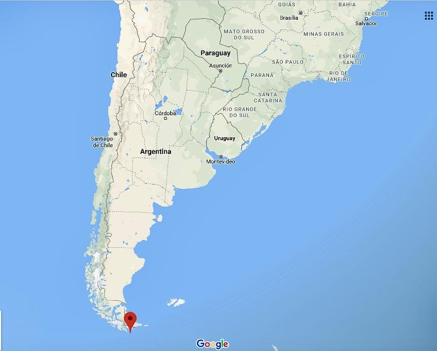 Eldslandet på Sydamerikas södra spets.
