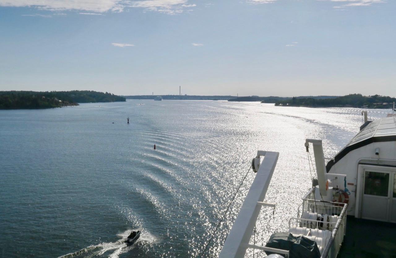 På väg till Gotland. Men först Stockholms skärgård ioch Åland innan vi efter 16timmar når Gotlland och VIsby.