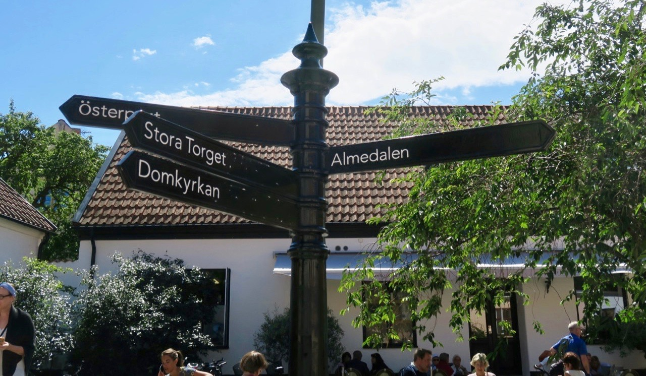 Tydliga vägvisare i Visby