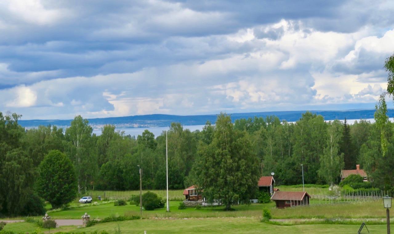 Utsikt över Siljan från Hotell Gyllene Hornet i Tällberg