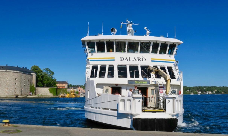 Dags att lämna Vaxholm blev det sent på eftermiddagen. Ohc en fin båtresa in till stan blev dte.