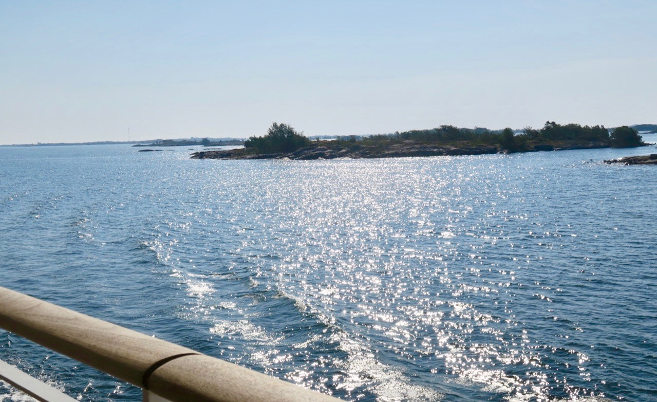 Stockholms skärgård, den yttre delen . Här närmar vi oss Ålands hav.