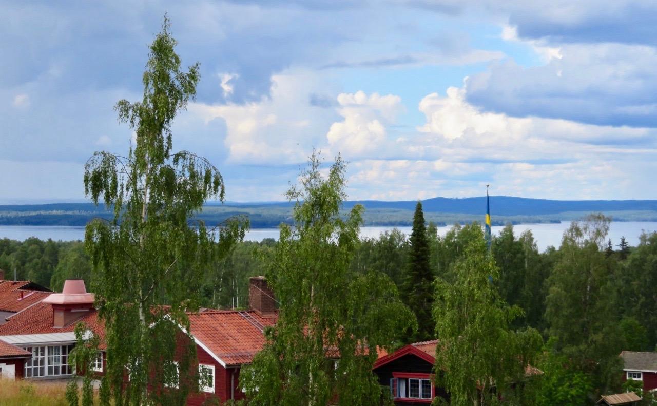 En sista blick ut över Tällberg och Siljan innan vi reser vidare.