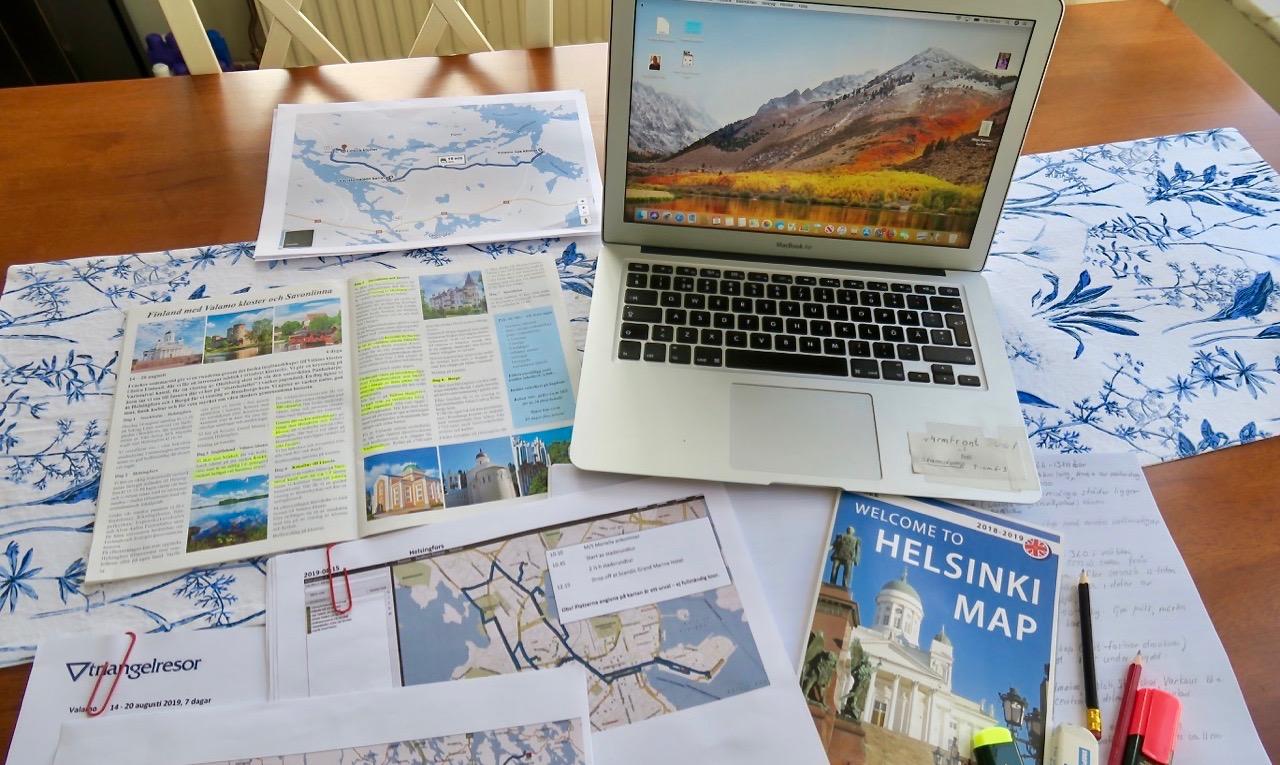 Snart dags för resan till östra Finland. Inläsning pågår.