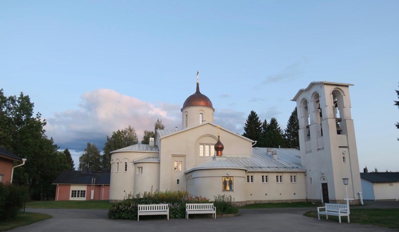 Den nya kyrkan i Valamo kloster invigdes 1977.