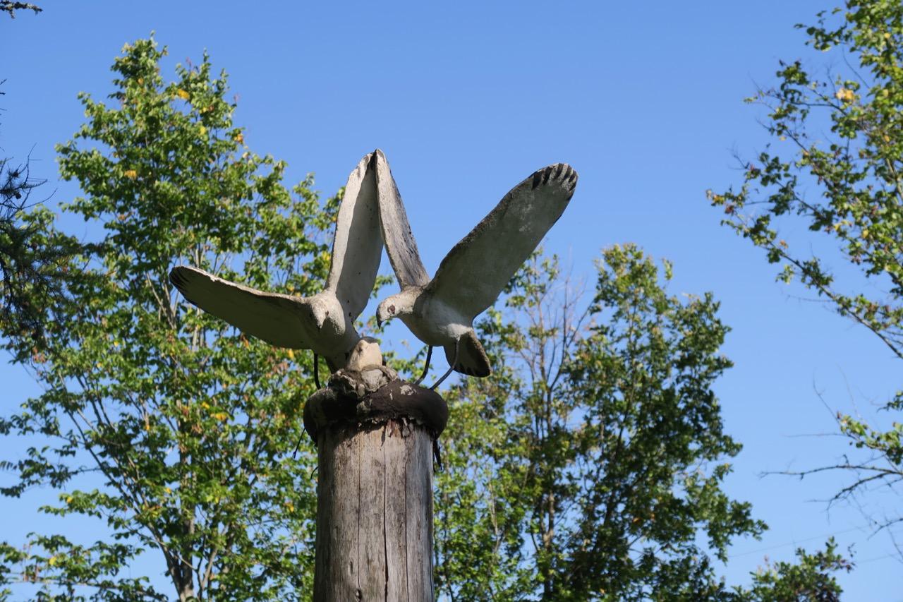 Även en del djur finns med i statyparken.