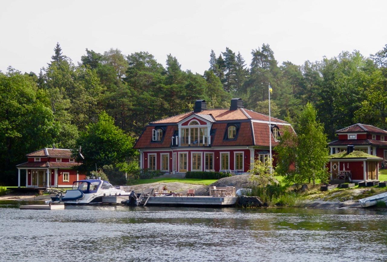 En trevlig utflykt i sig att ta båt från Stockholm till Gustavsberg