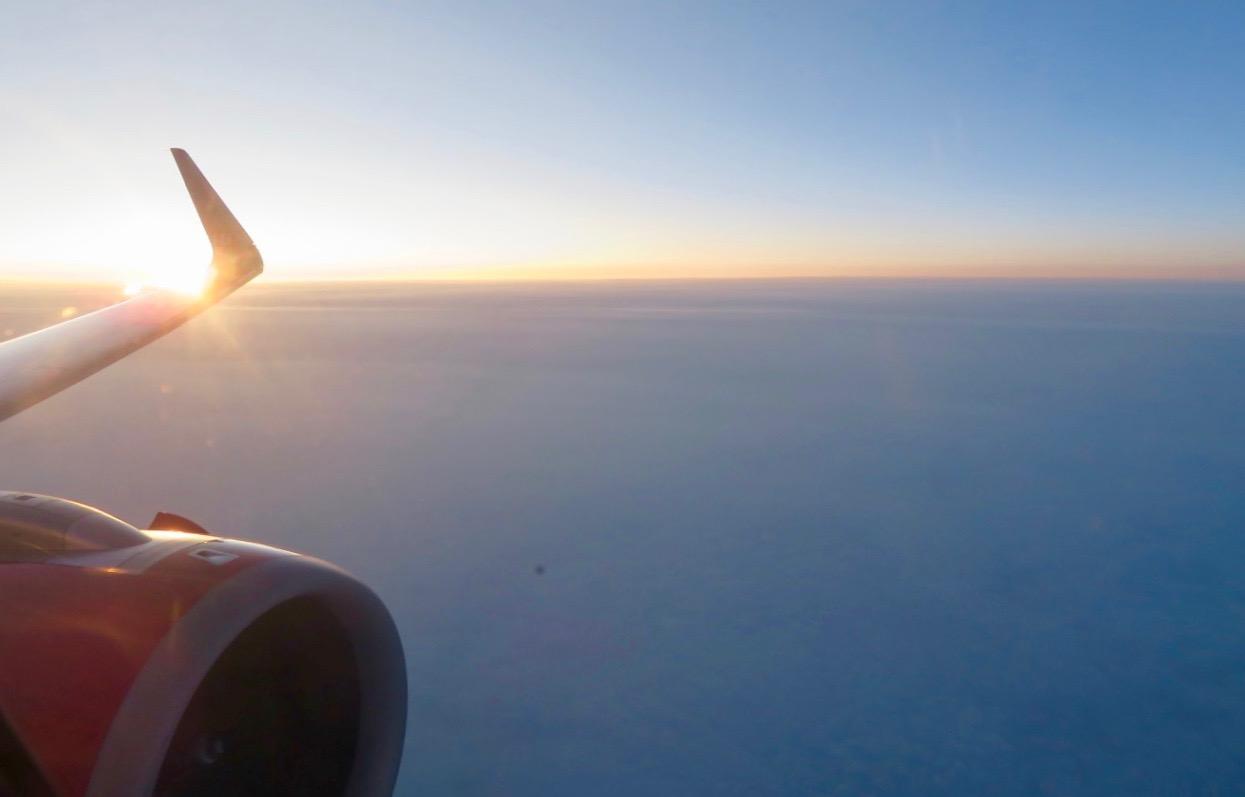 Fint flygväder hela vägen från Alicante hem till Stockholm.