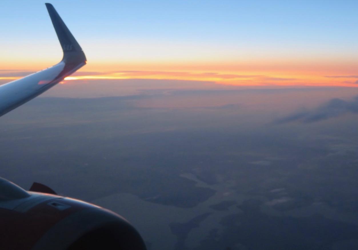 Vi närmar oss Arlanda och resan hem är snart över för denna gång.