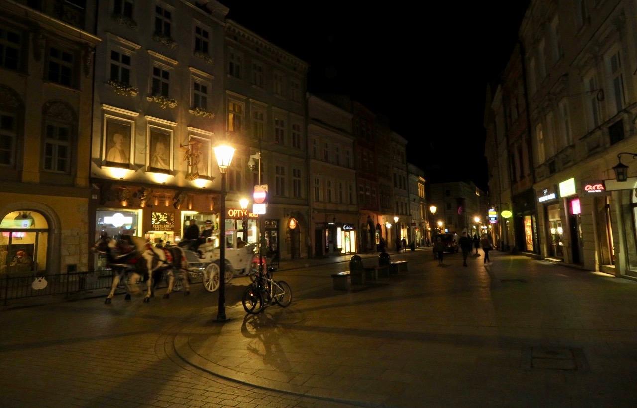 En kväll i Krakow.