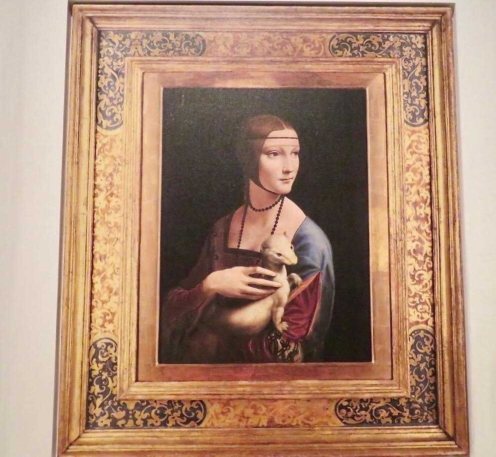 """""""Damen med hermelinen"""" målad av Leonardo da Vinci, 1489-1490."""