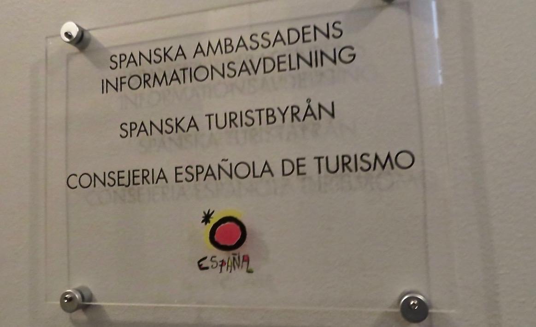 Lite klurigt att hitta till spanska turistbyrån i Stockholm.
