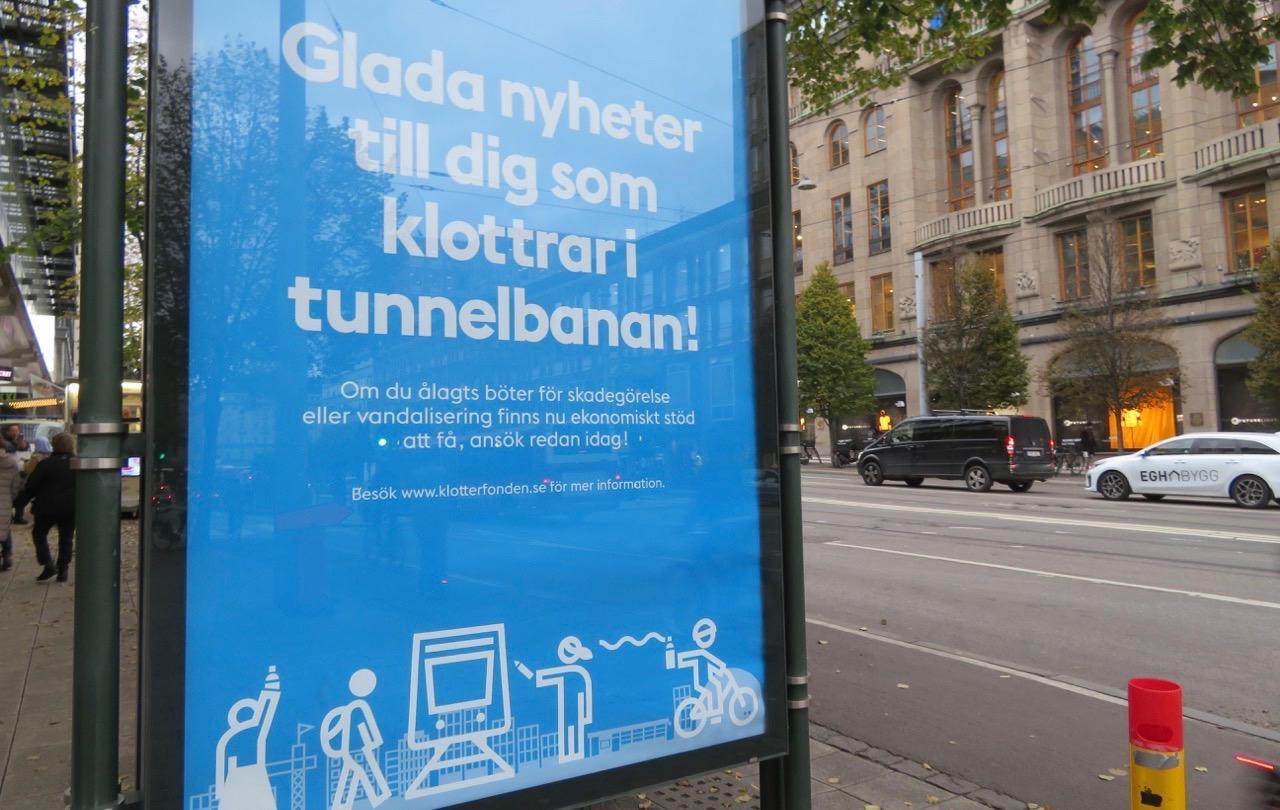Dags för ännu ett märkligt beslut. Ekonomiskt bidrag till klottrare i Stockholm. Aprilskämt i oktober?.