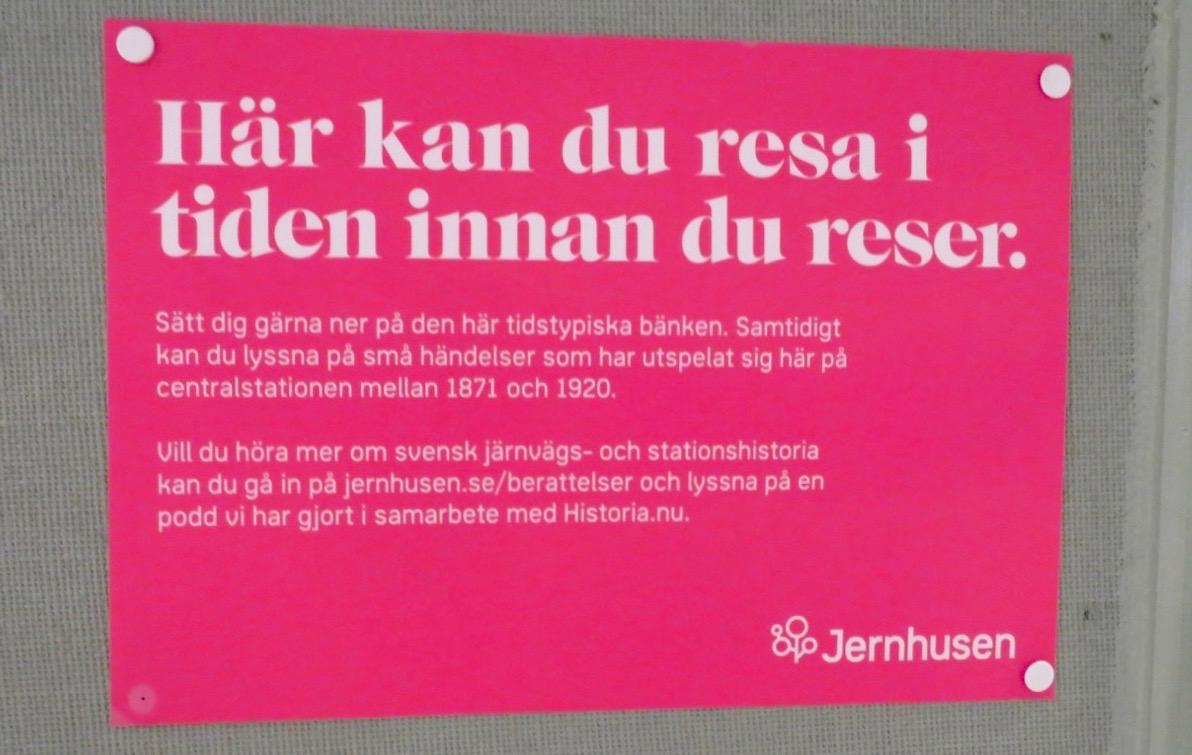 Kanske dags för en ny resa. Och på Stockholm central kan man resa på olika sätt.