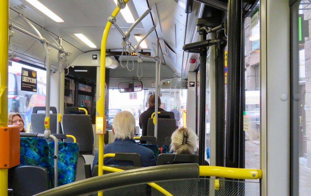 Min sightseeingtur är i gång på buss 57.