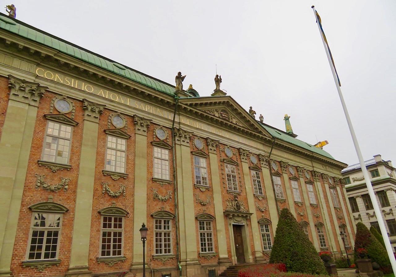 Vi inledde dagen med konst och kultur på Riddarhuset i Stockholm