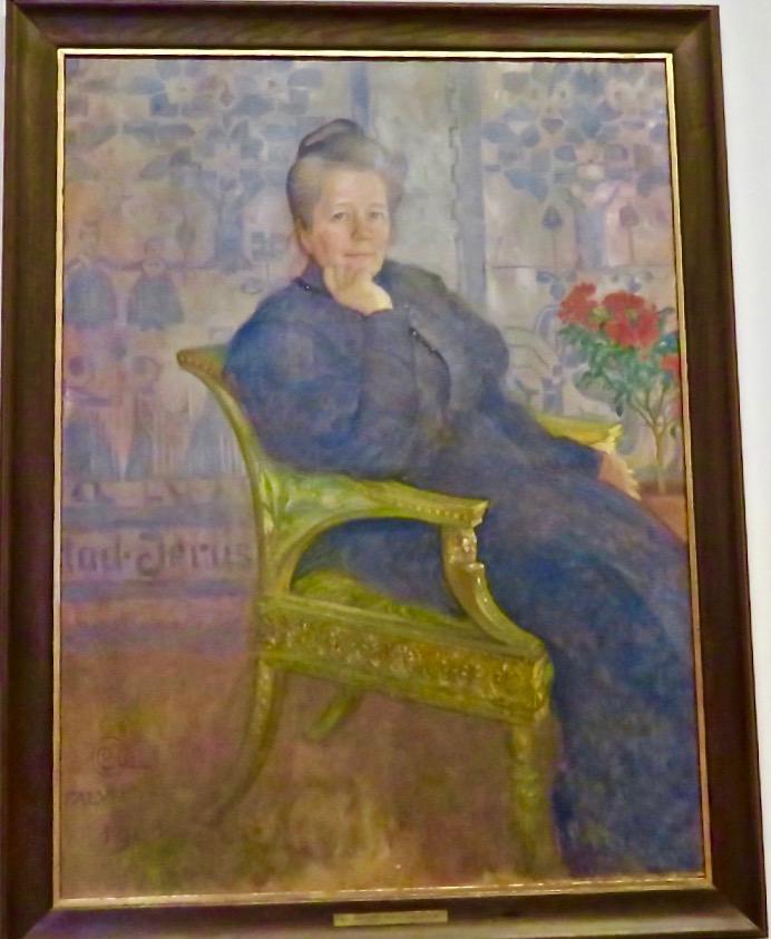 Selma Lagerlöf porträtterad av Carl Larsson 1908. Ytterligare ett exempel på att konst, lultur och litteratur hör samman.