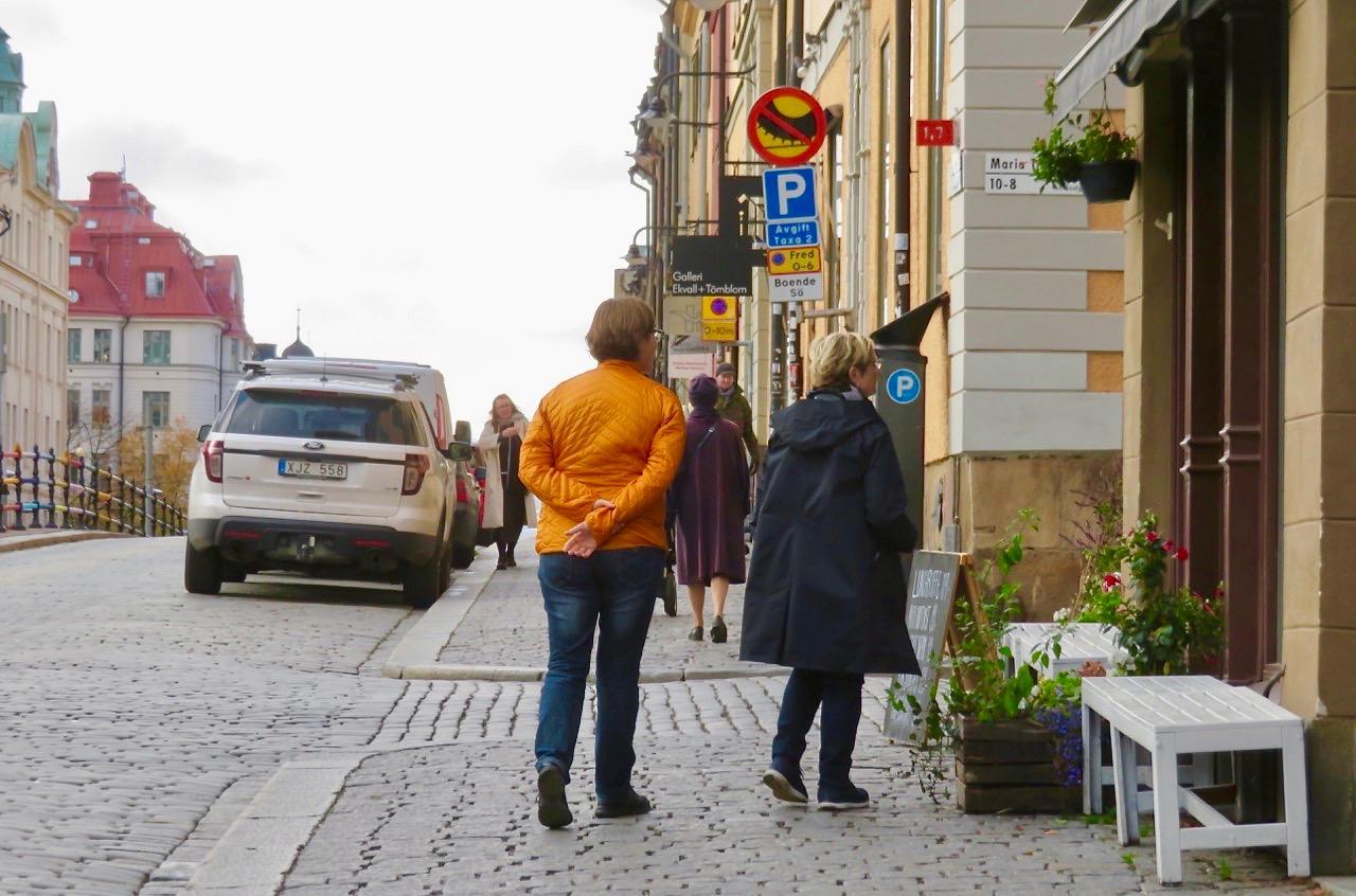 Stockholmsfredag på Hornsgatspuckeln på Södermalm.