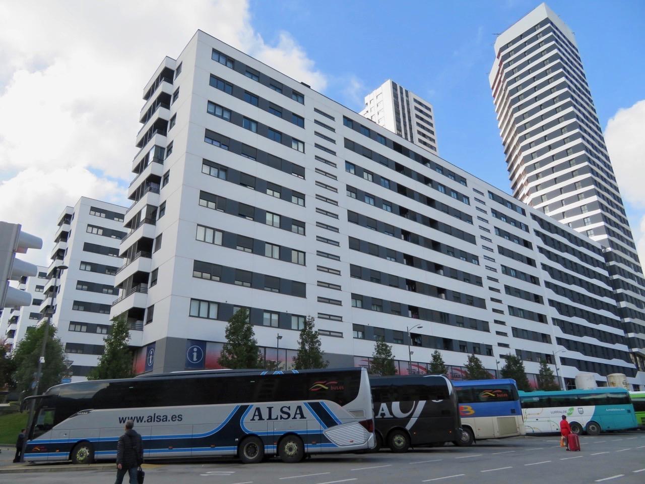 Gårdagens resa fortsatte med buss från Bilbao till Santander