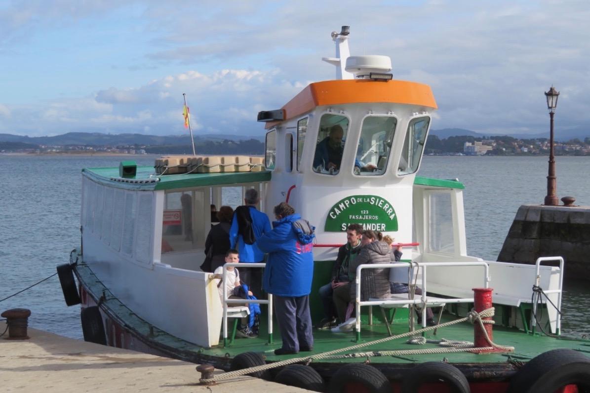 Visst lockades vi att ta en båttur i Santander. Roligt att se staden från havssidan också.