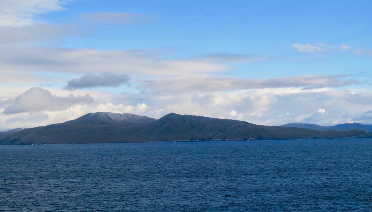 Här är i på väg runt Kap Horn i södera Chile. Också en av världens sydligaste ounkter.