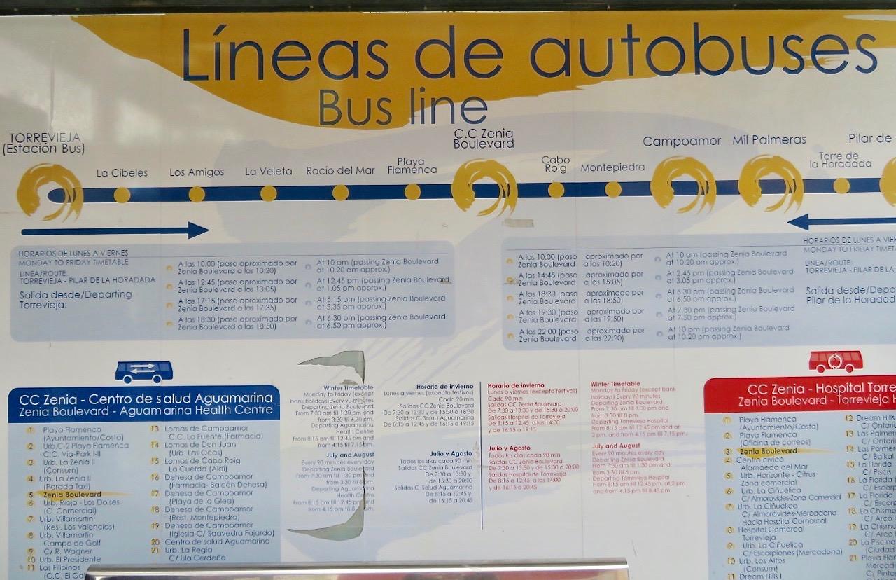 Att tyda denna bussturlista var också en utmaning. I mindre skala.