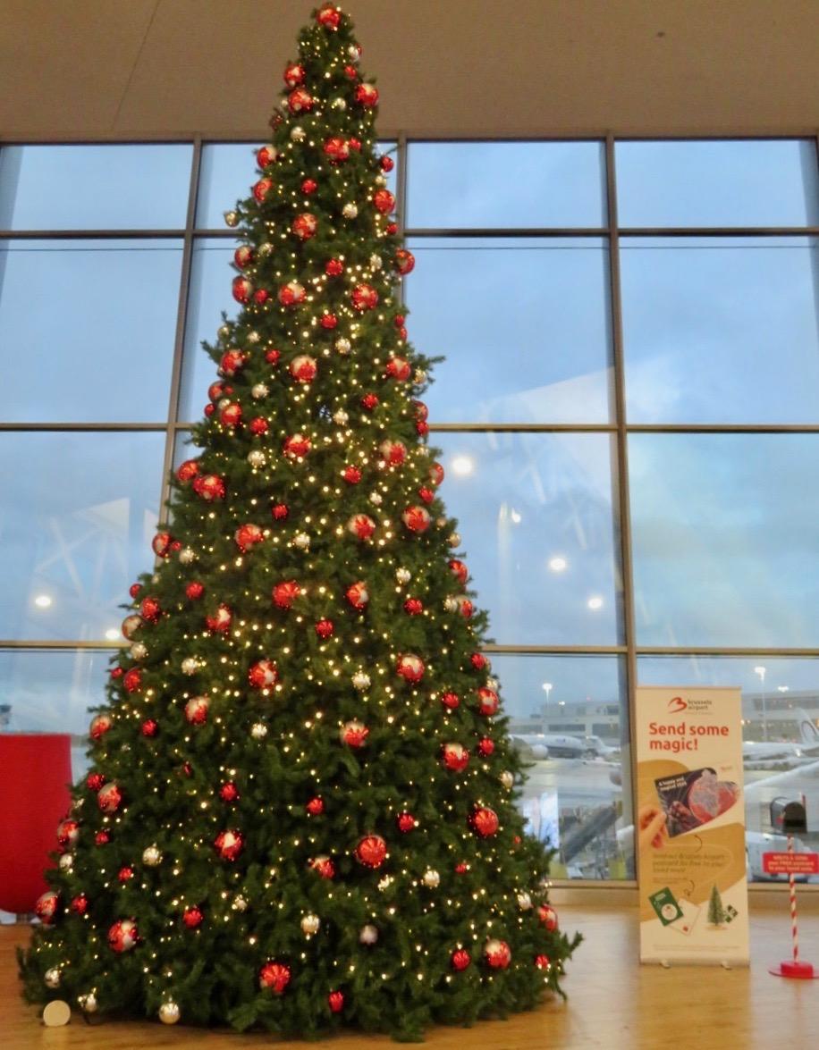 Snart dags för jul Bryssels flygplats verkar beredd.