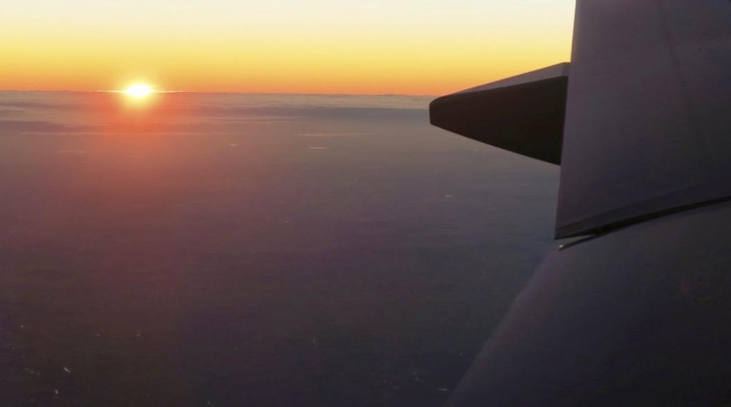 Det var mäktigt att flyga in över Buenos Aires i soluppgången