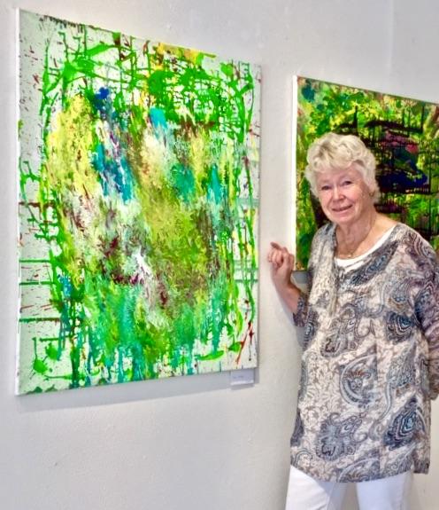 """Tavlan här heter """"Vila i rörelse"""" och är målad av min goda vän Tove Olberg"""