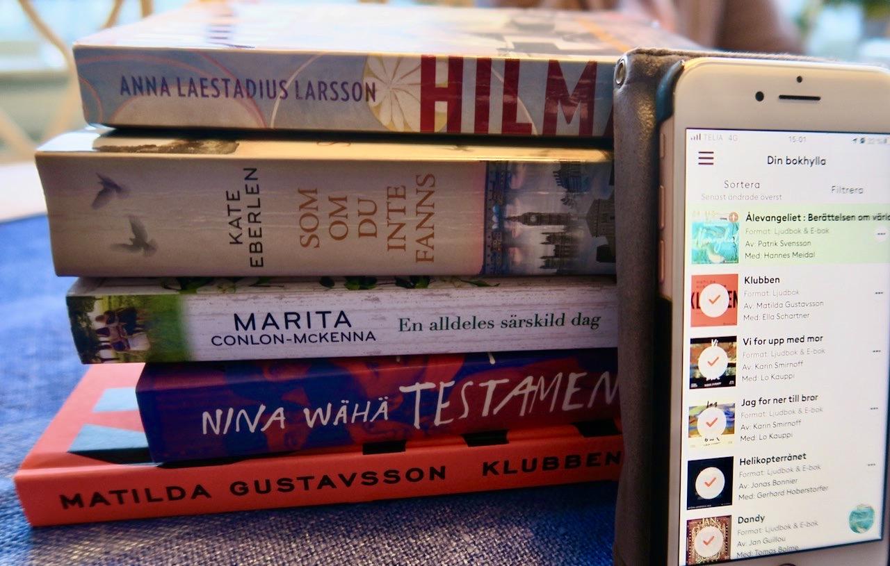 Några av de böcker vi läst-