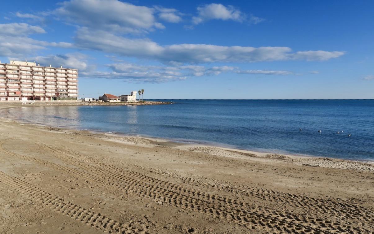 Stranden Los Locos i Torrevieja. Och en fin söndag var et.
