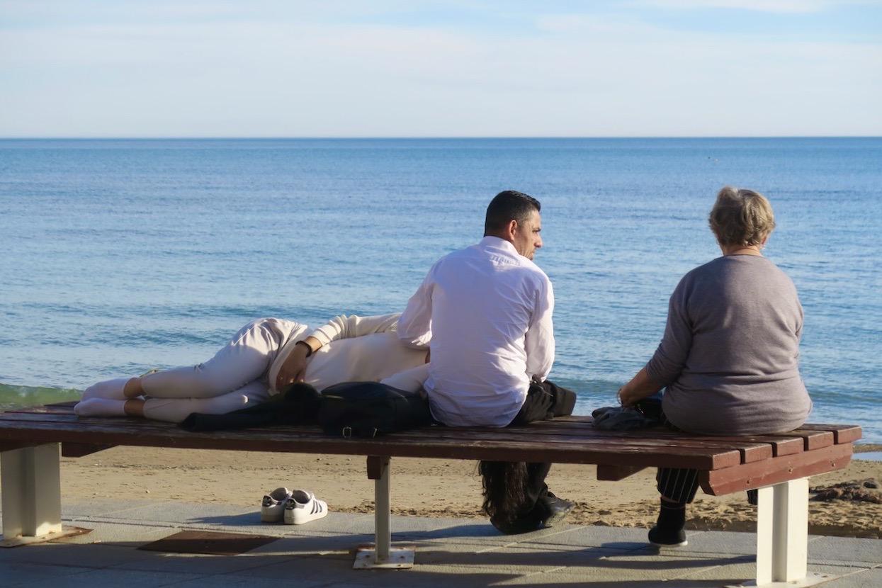 Och nere vid havet var det de som vilade sig i forrm under gårdagens vackra väder.