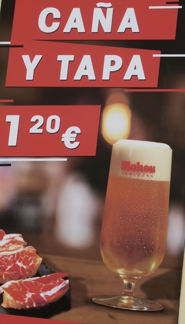 Prisbilden för mat och dryck i Torreviej aär god. Ofta mindre än halva priset mot i Sverige.