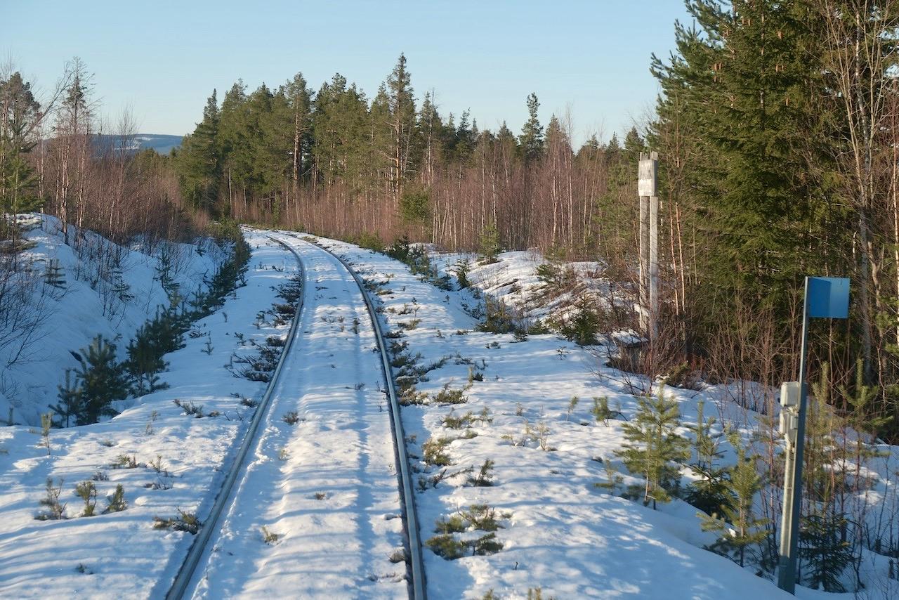 Tåg. Här Inlandsbanan mellan Sveg och Röjan.