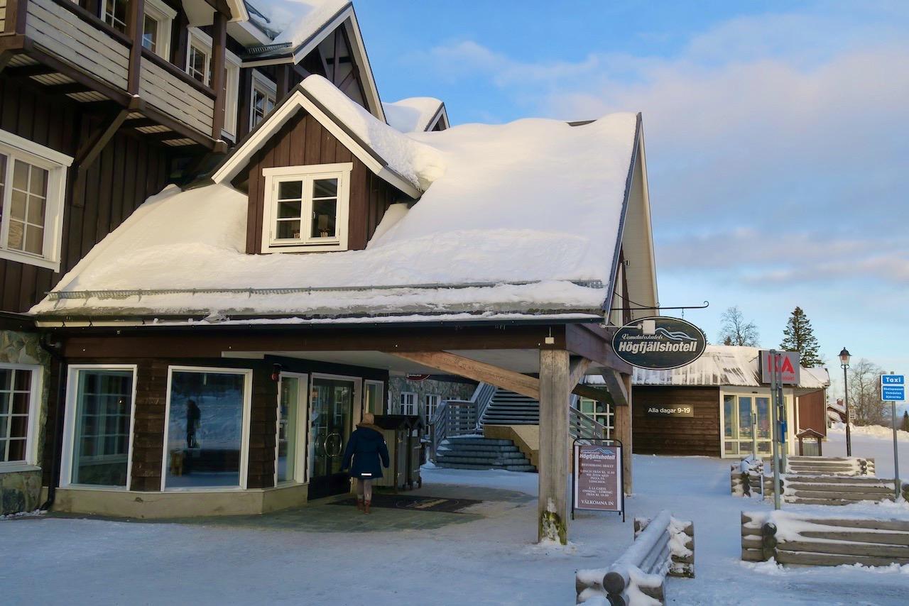 Högfjällshotellet i Vemdalsskalet är vårt boende den här skidsemestern.